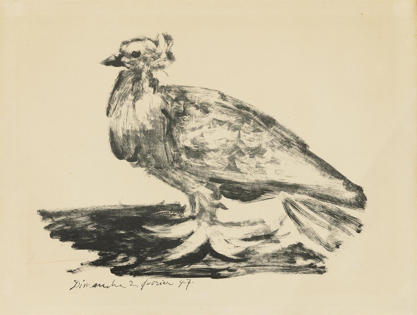 Pablo Picasso-Le Gros Pigeon-1947
