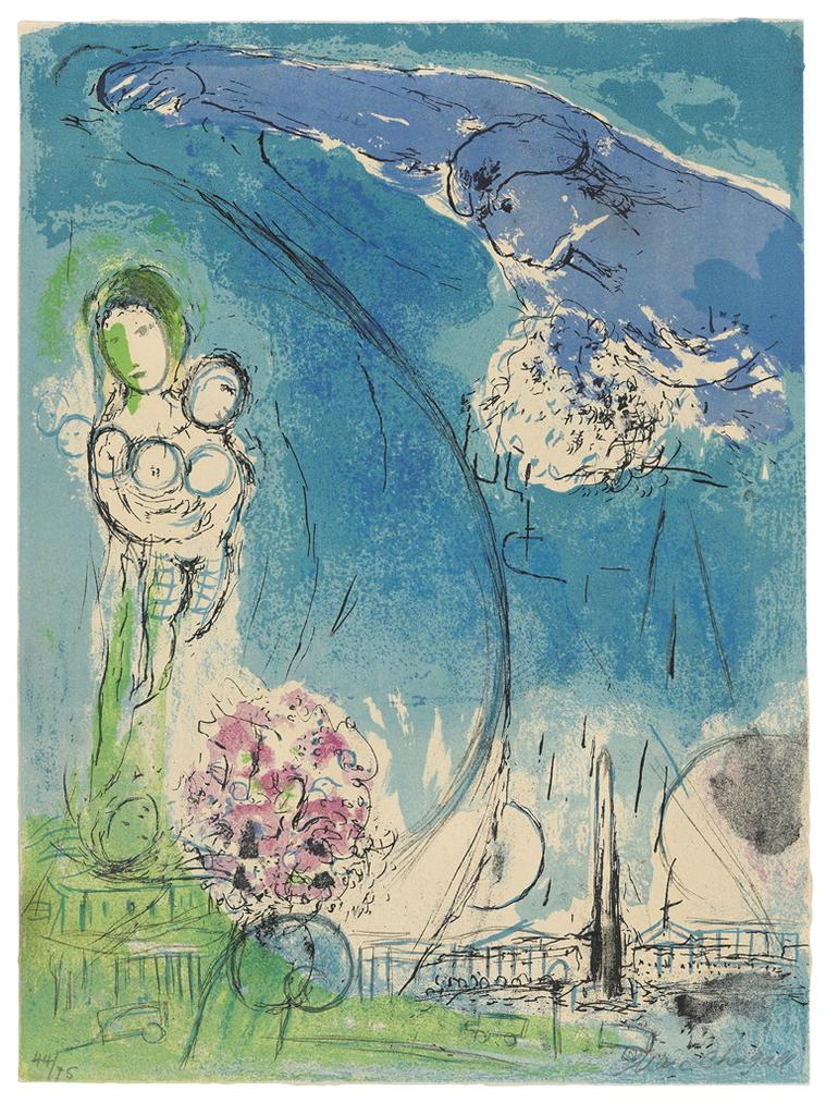 Marc Chagall-Place De La Concorde-1952