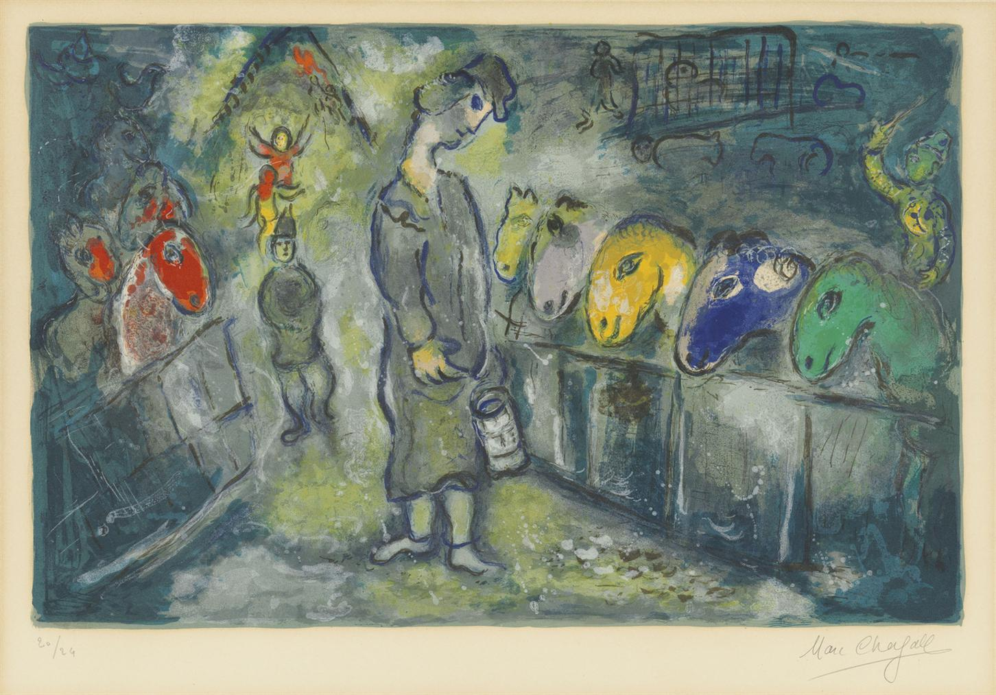 Marc Chagall-One Plate, From: Le Cirque-1967