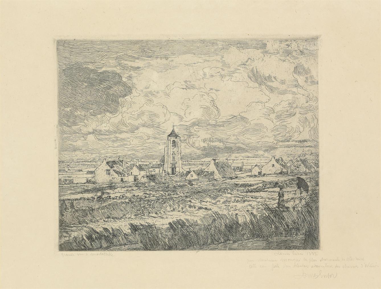James Ensor-Grande Vue De Mariakerke (Large View Of Mariakerke)-1887