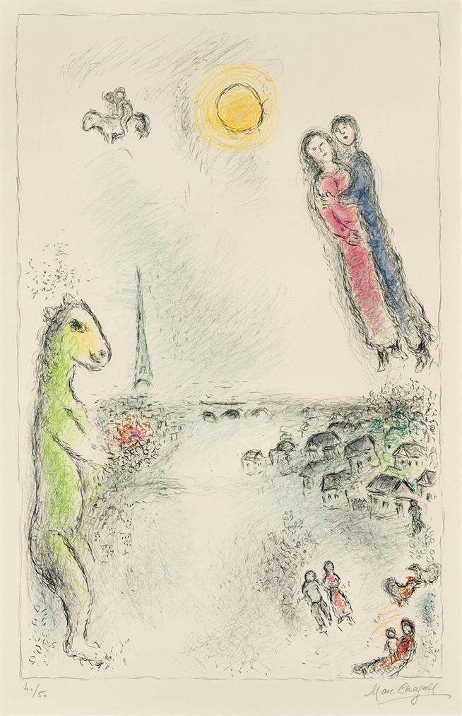 Marc Chagall-Les Deux Rives-1980