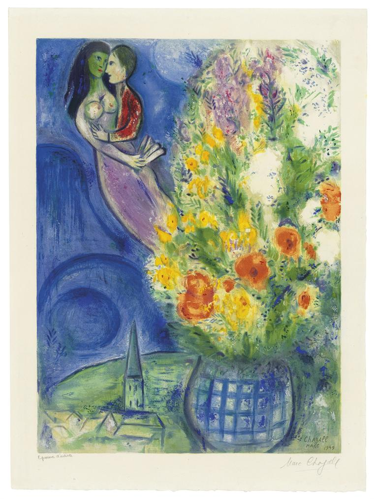 Marc Chagall-After Marc Chagall - Les Coquelicots-1949