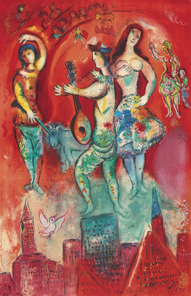 Marc Chagall-After Marc Chagall - Carmen-1967