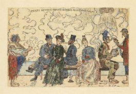 James Ensor-Peste Dessous, Peste Dessus, Peste Partout (Pollution Under, Pollution Above, Pollution Everywhere)-1904