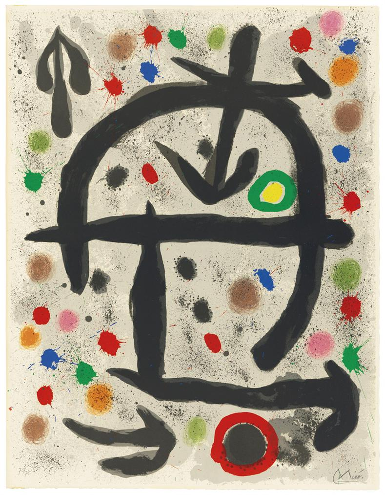 Joan Miro-Plate V, From: The Perseides-1970