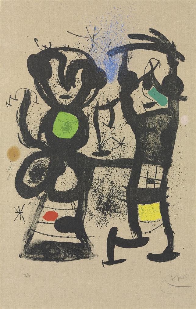 Joan Miro-La Conversation-1969