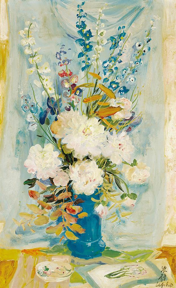 Le Pho-Peony Roses-1965