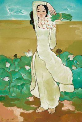 Nguyen Trung-Lady Gathering Lotus Flowers-2012
