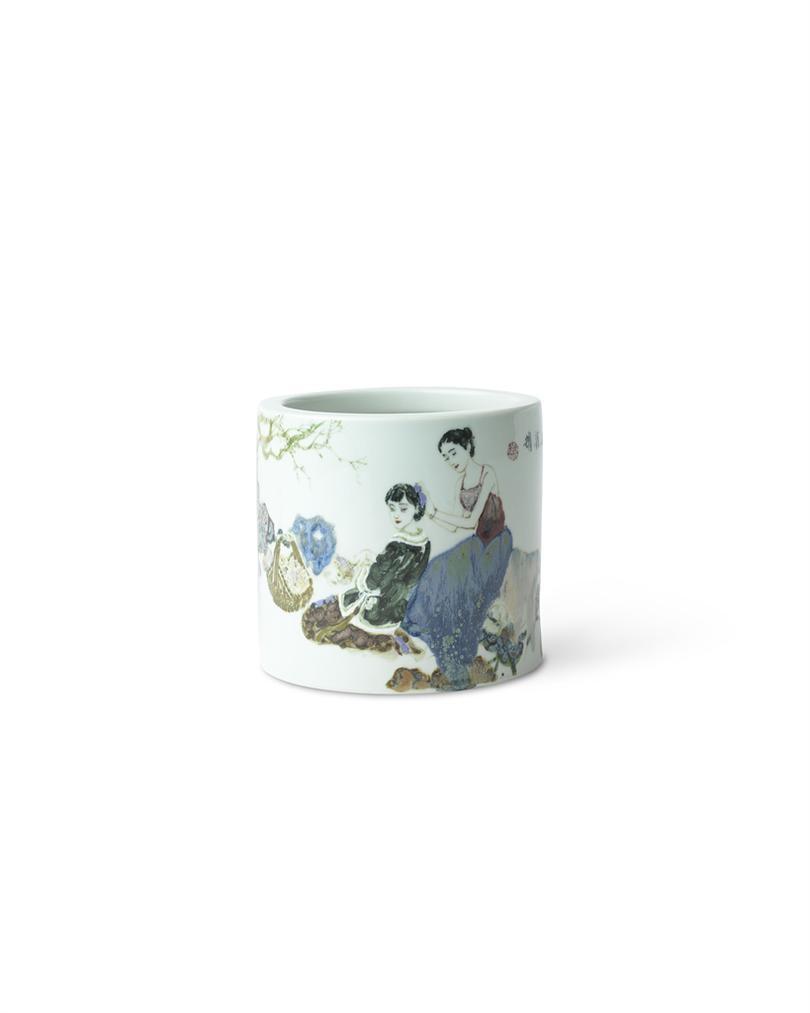 Le Longyao - A Lotus Brush Pot Qiulian-2015