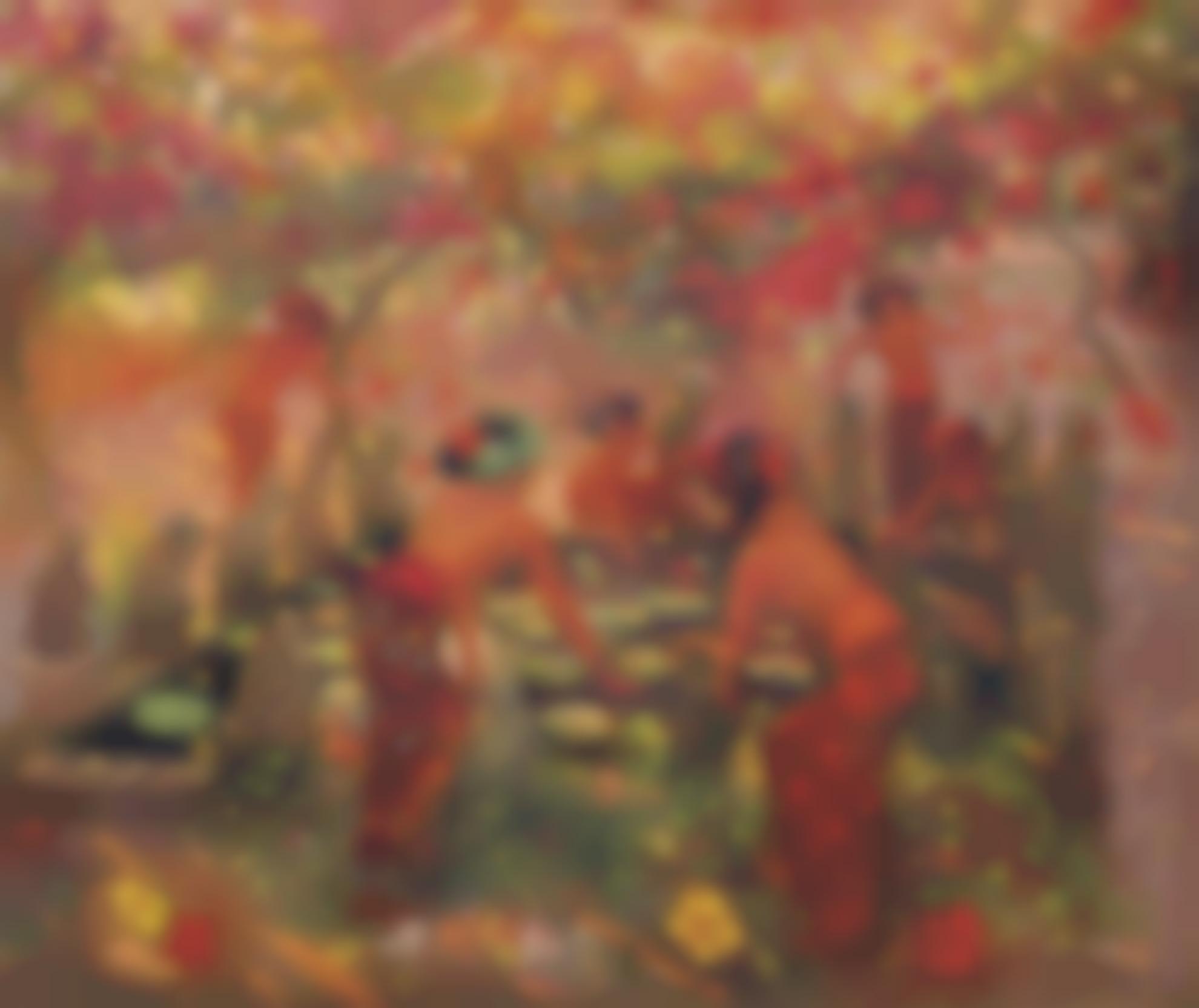 Adrien Jean Le Mayeur De Merpres-Around The Lotus Pond-