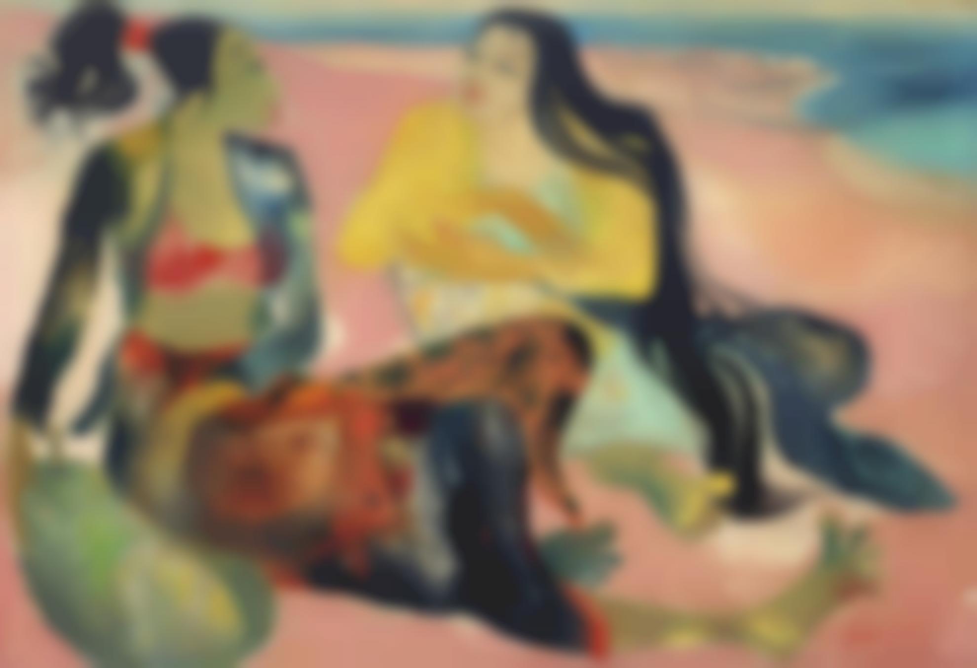 Hendra Gunawan-Two Women By The Beach-