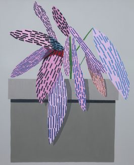 Jonas Wood-Pink Plant With Shadows #2-2014