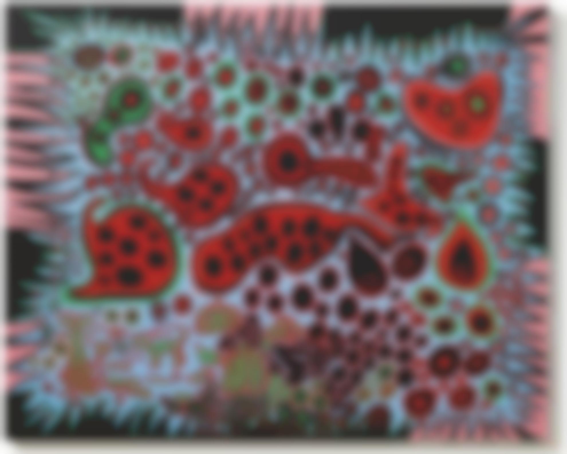 Yayoi Kusama-Imagined Scenery Dotted With Pumpkins-2009