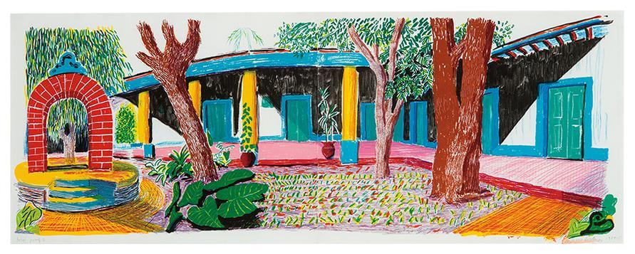 David Hockney-Hotel Acatlan: Second Day (From Moving Focus)-1985
