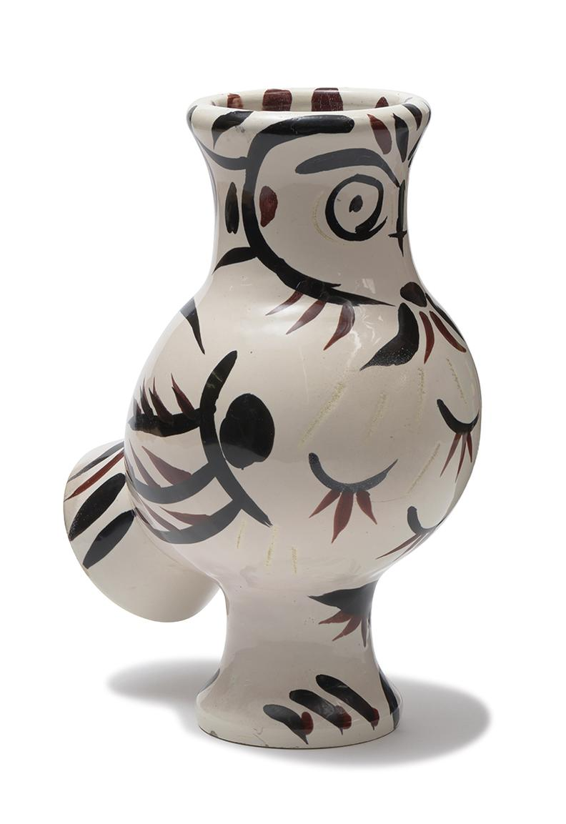 Pablo Picasso-Wood-Owl With Feathers-1951