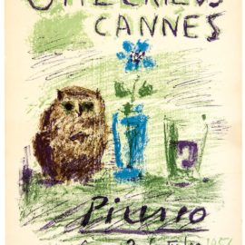 Pablo Picasso-Owl, Glass And Flower-1956