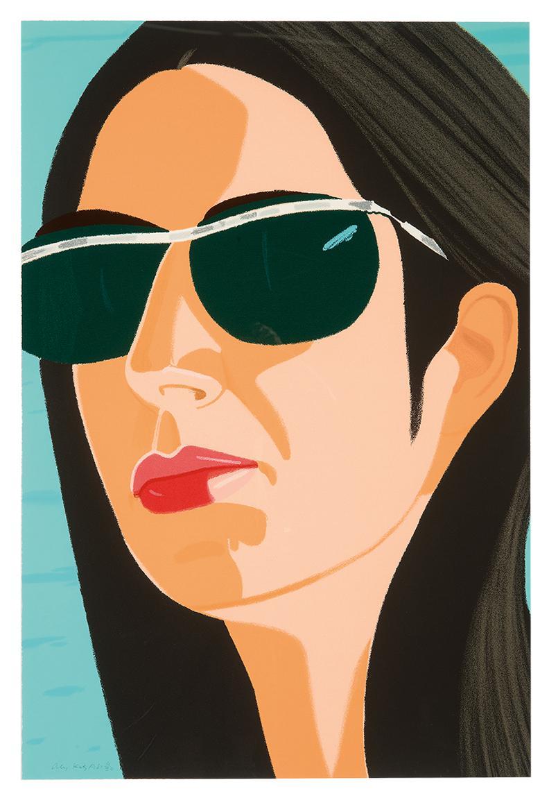 Alex Katz-Ada With Sunglasses (From Alex And Ada Portfolio)-1990