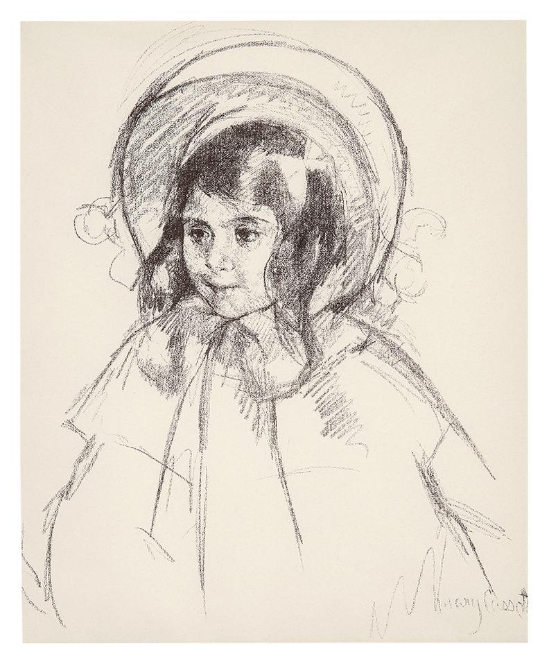 Mary Cassatt-Sara Wearing Her Bonnet And Coat-1904