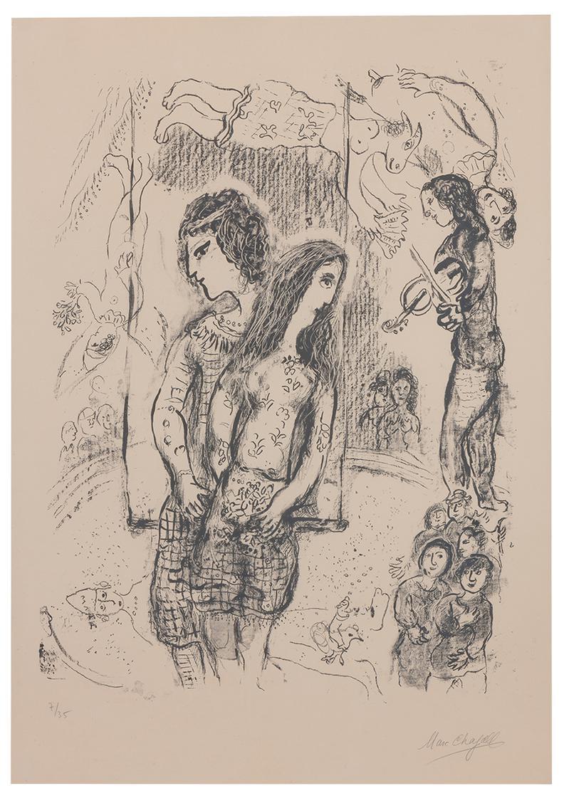 Marc Chagall-Le Grand Cirque-1971