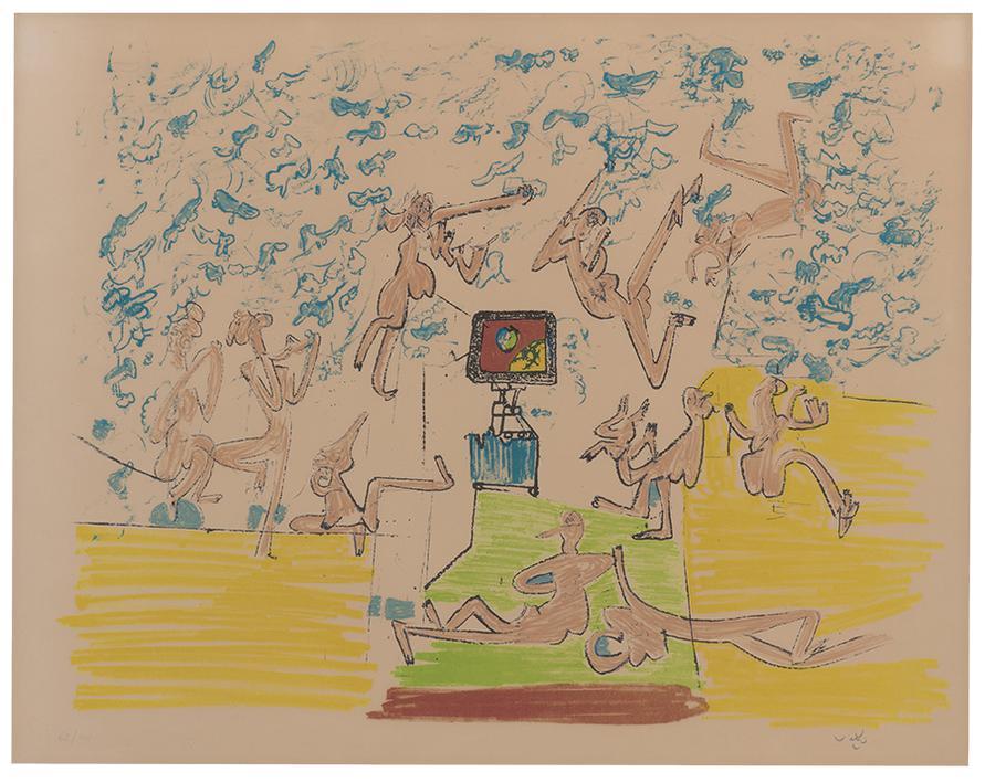 Roberto Sebastian Matta - Plate 6 (From Fog Gog Magog)-1971