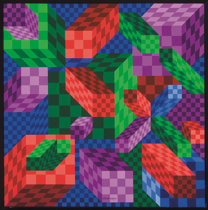 Victor Vasarely-Citineu-1988