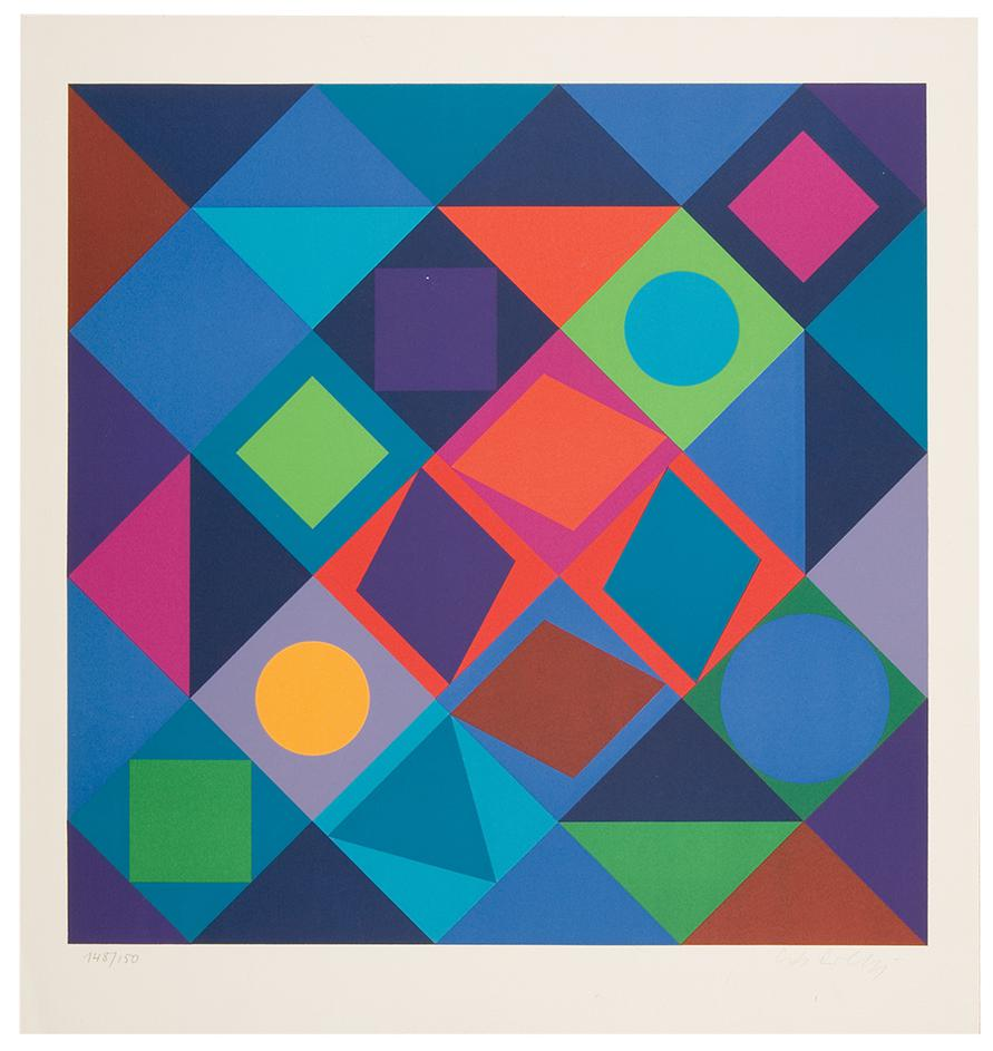 Victor Vasarely-Sikra-1966
