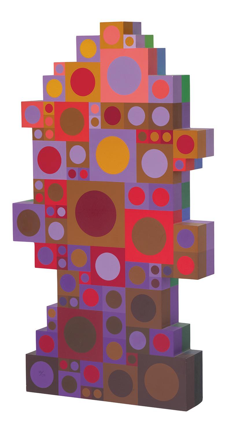 Victor Vasarely-Egsin Ou Moulin-1990