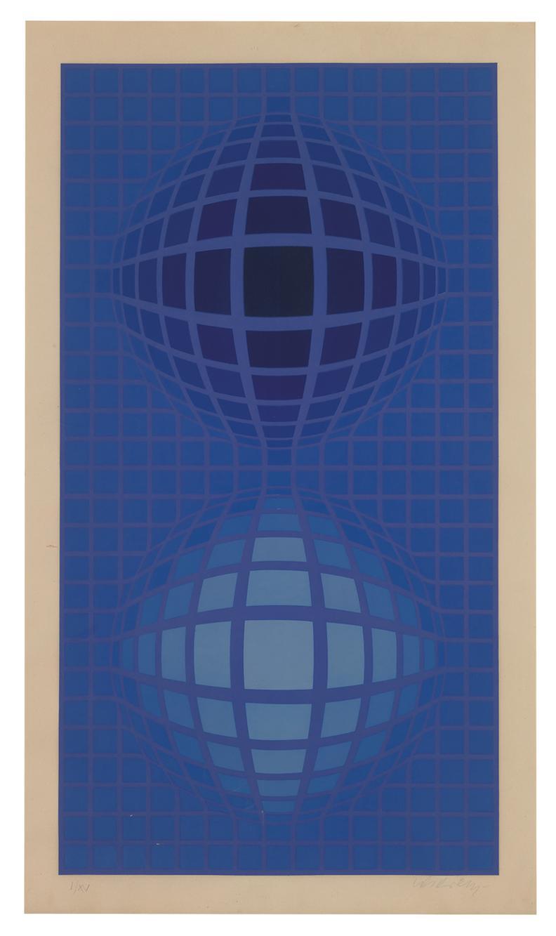Victor Vasarely-Untitled (Oltar)-1971
