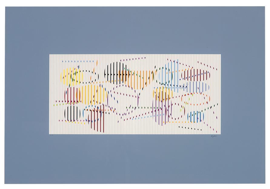 Yaacov Agam-Untitled (Composition)-1976