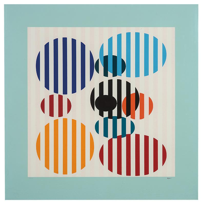 Yaacov Agam-Suite 3 Comprised of Forme Lignes, Forme Couleur, and Rythme Ligne Forme-1974