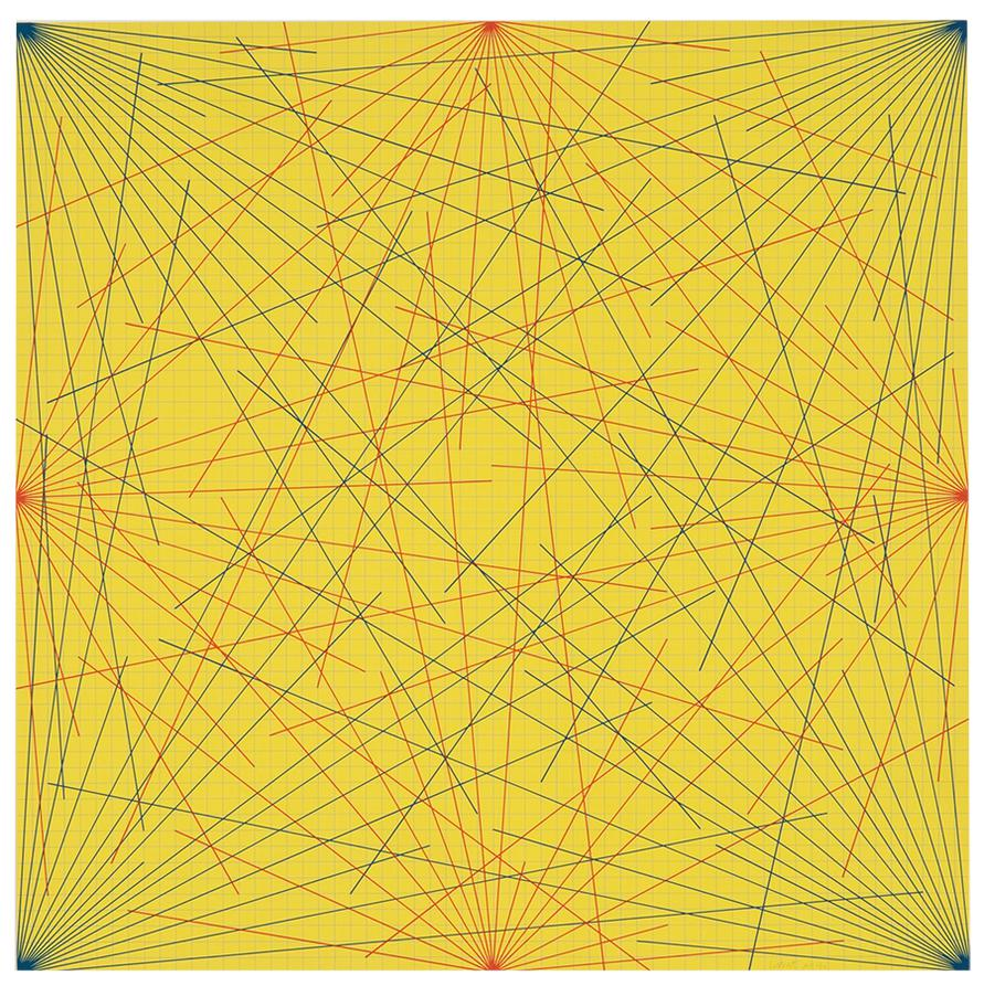 Sol LeWitt-Plate 3 And Plate 6 (From Lines In Color On Color From Corners Sides And Centers To Specific Points-1978