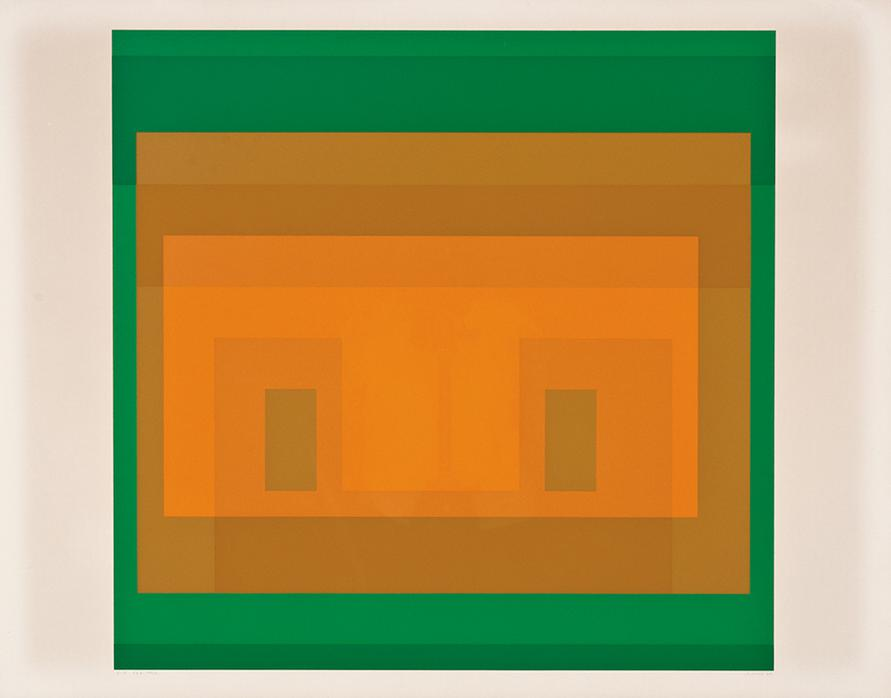 Josef Albers-I-S Va 6 (From Six Variants)-1969