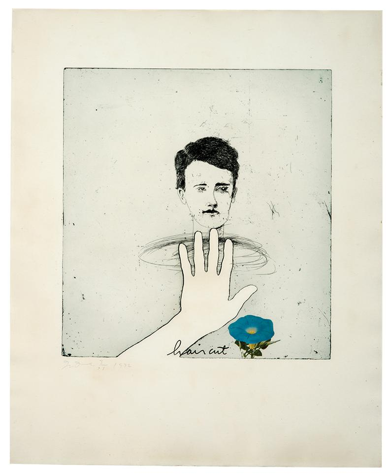 Jim Dine-Blue Haircut; Untitled (2)-1972