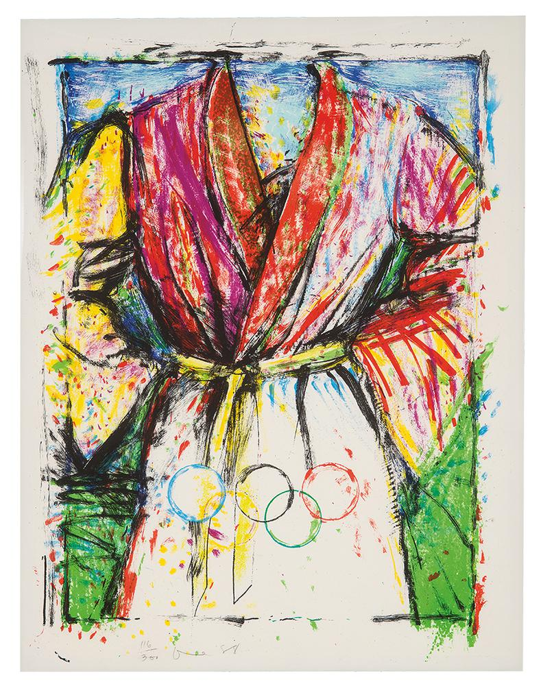 Jim Dine-Multicolored Robe For The Seoul Olympics-1988