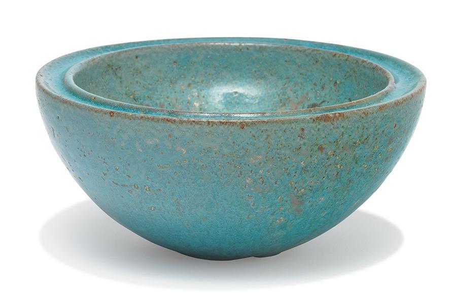 Gertrud & Otto Natzler - Massive Bowl With Indented Rim-1957