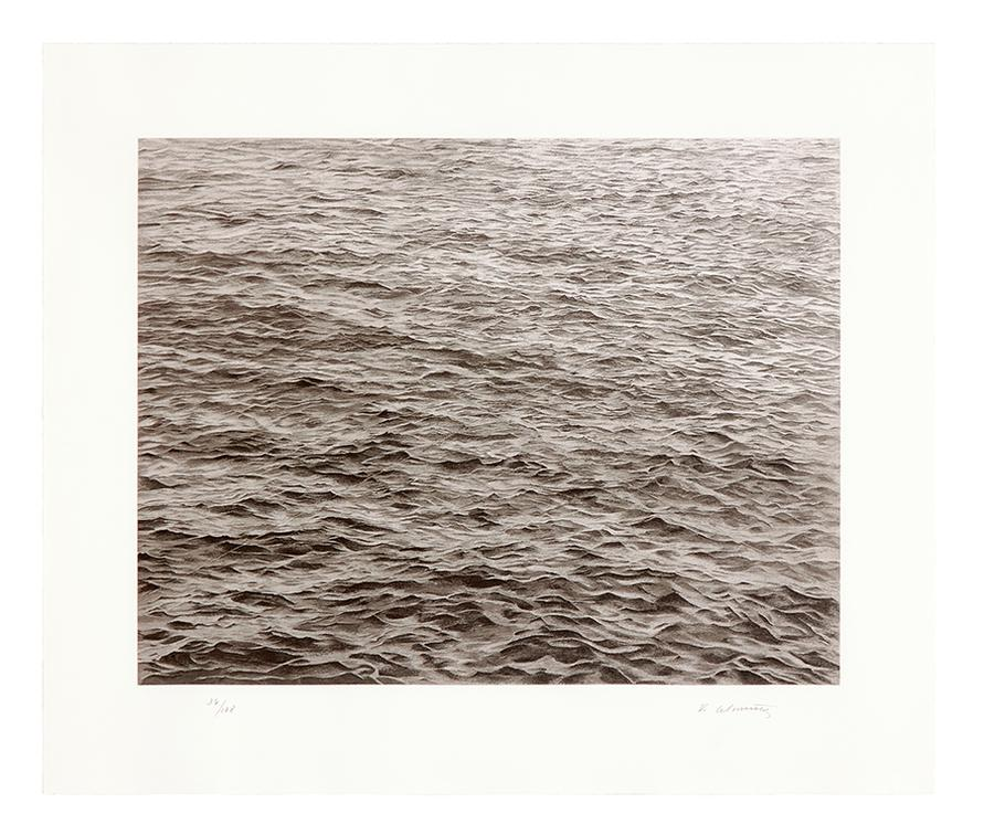 Vija Celmins-Untitled (Ocean With Cross #1)-2005