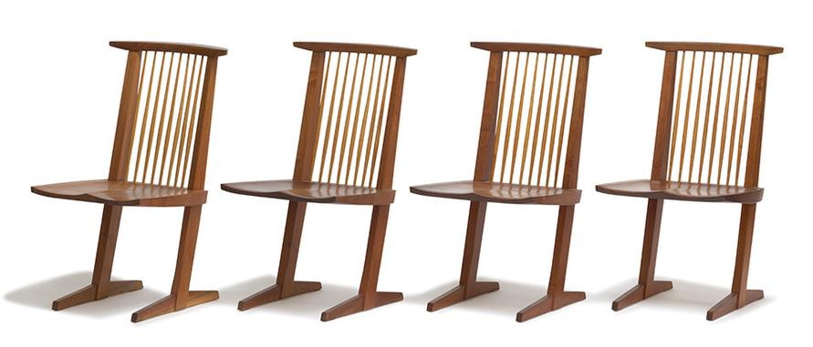 George Nakashima - Conoid Dining Chairs (8)-1965