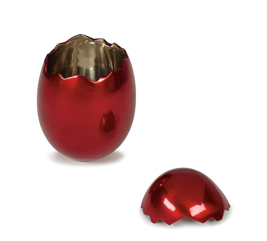 Jeff Koons Style - Cracked Egg (Red)-2008