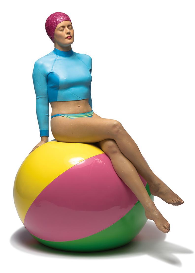 Carole Feuerman-Bibi On The Ball-2015