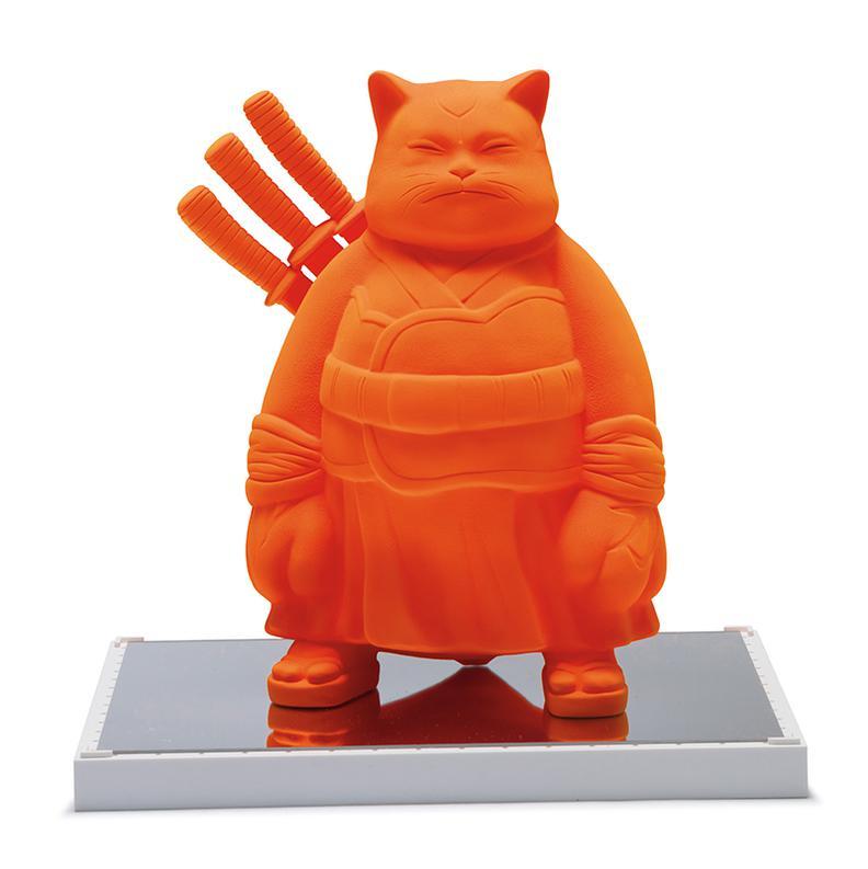 Hiro Ando-Samurai Cat Monology Orange-2006