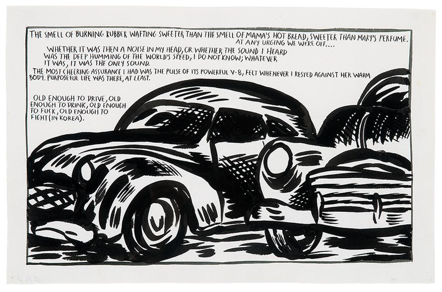 Raymond Pettibon-The Smell Of Burning Rubber...-1989