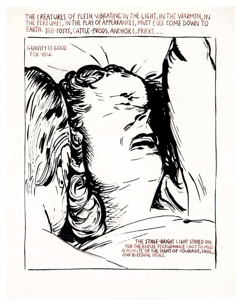 Raymond Pettibon-No Title (The Creatures Of Flesh...)-1990
