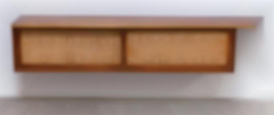 George Nakashima - Hanging Wall Case With Free Edge-1956