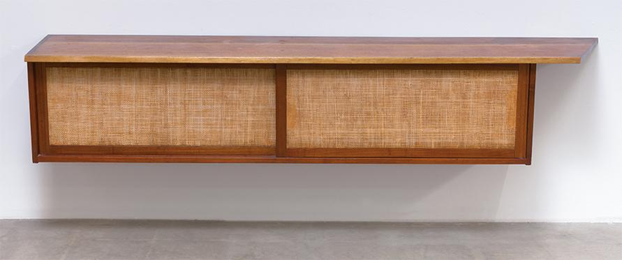 George Nakashima - Hanging Wall Case With Free Edge-1956