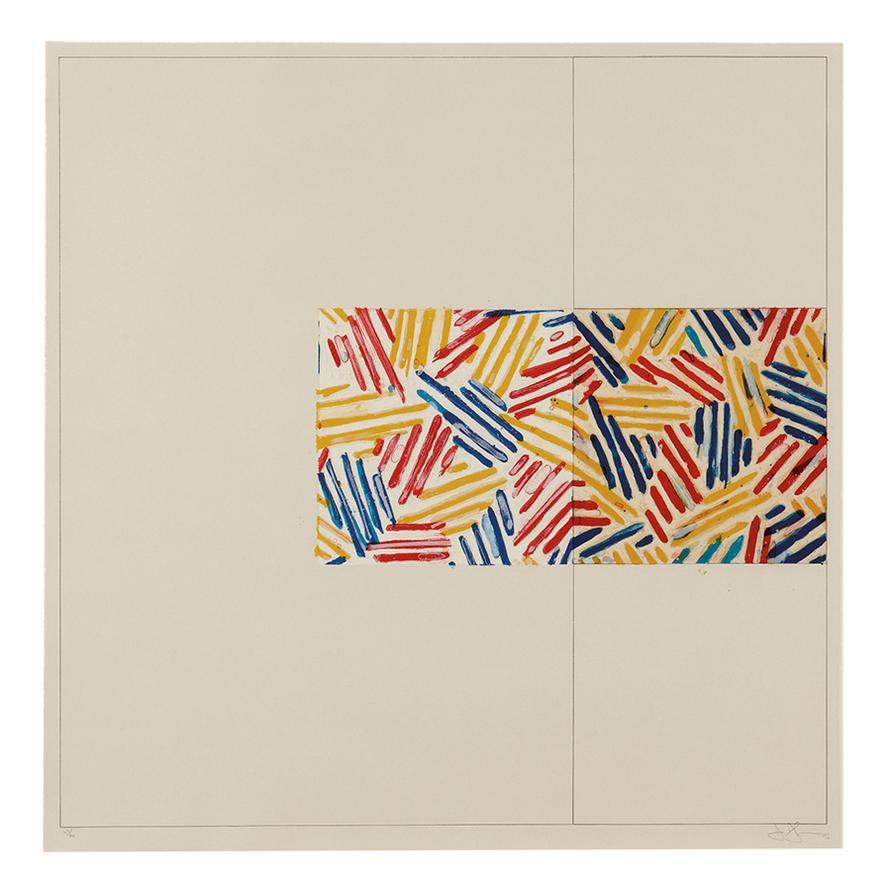 Jasper Johns-#3 (After Untitled 1975)-1976