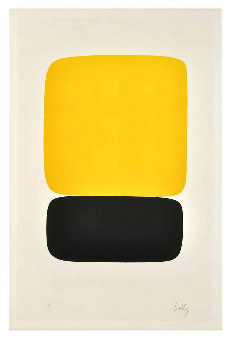 Ellsworth Kelly-Yellow Over Black-1965