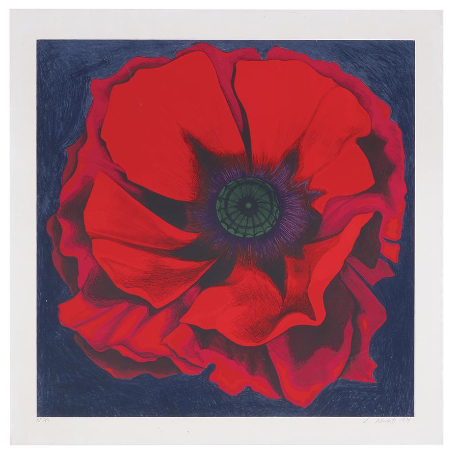 Lowell Nesbitt-Untitled (Red Poppy)-1974