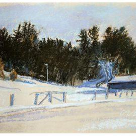 Wolf Kahn-Winter In Northern New Hampshire-1984