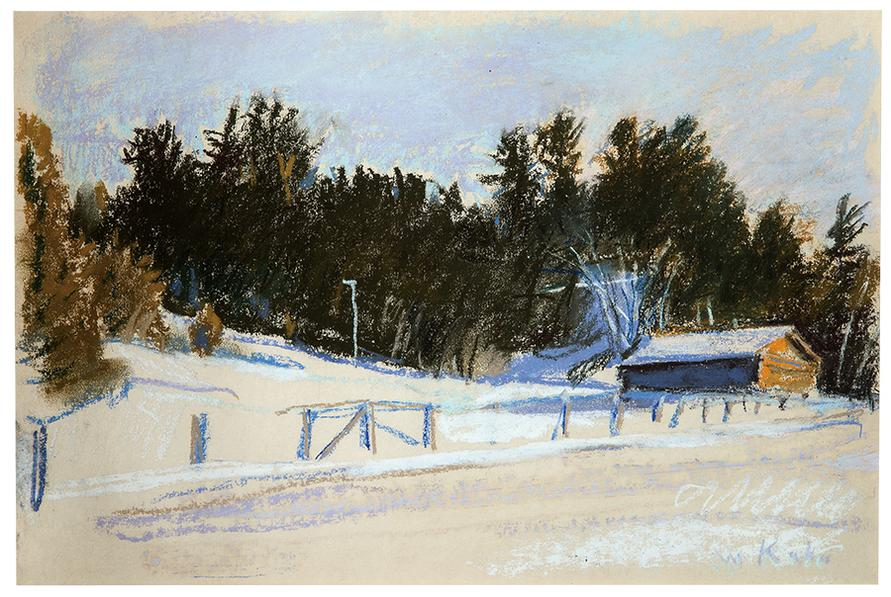 Wolf Kahn-Winter In Northern New Hampshire-1984