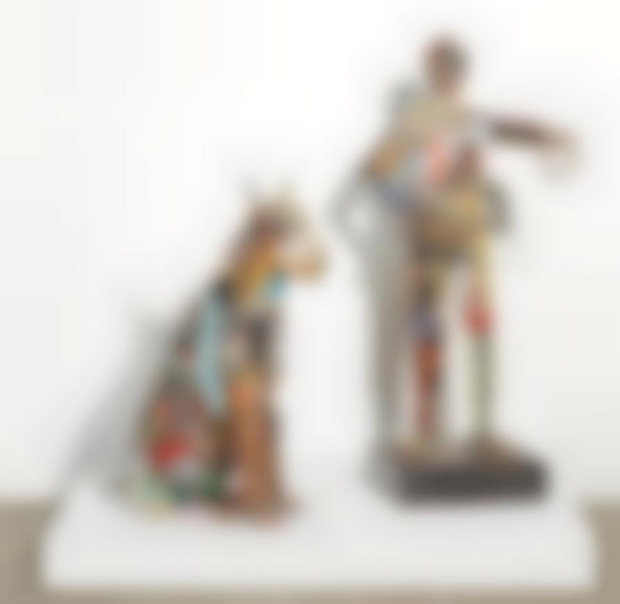Leo Sewell - Untitled (2) Comprised of A: Untitled (Jockey) and B: Untitled (Dog)-1996